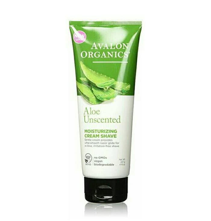 Avalon Organics Moisturizing Cream Shave Aloe Unscented 227gr