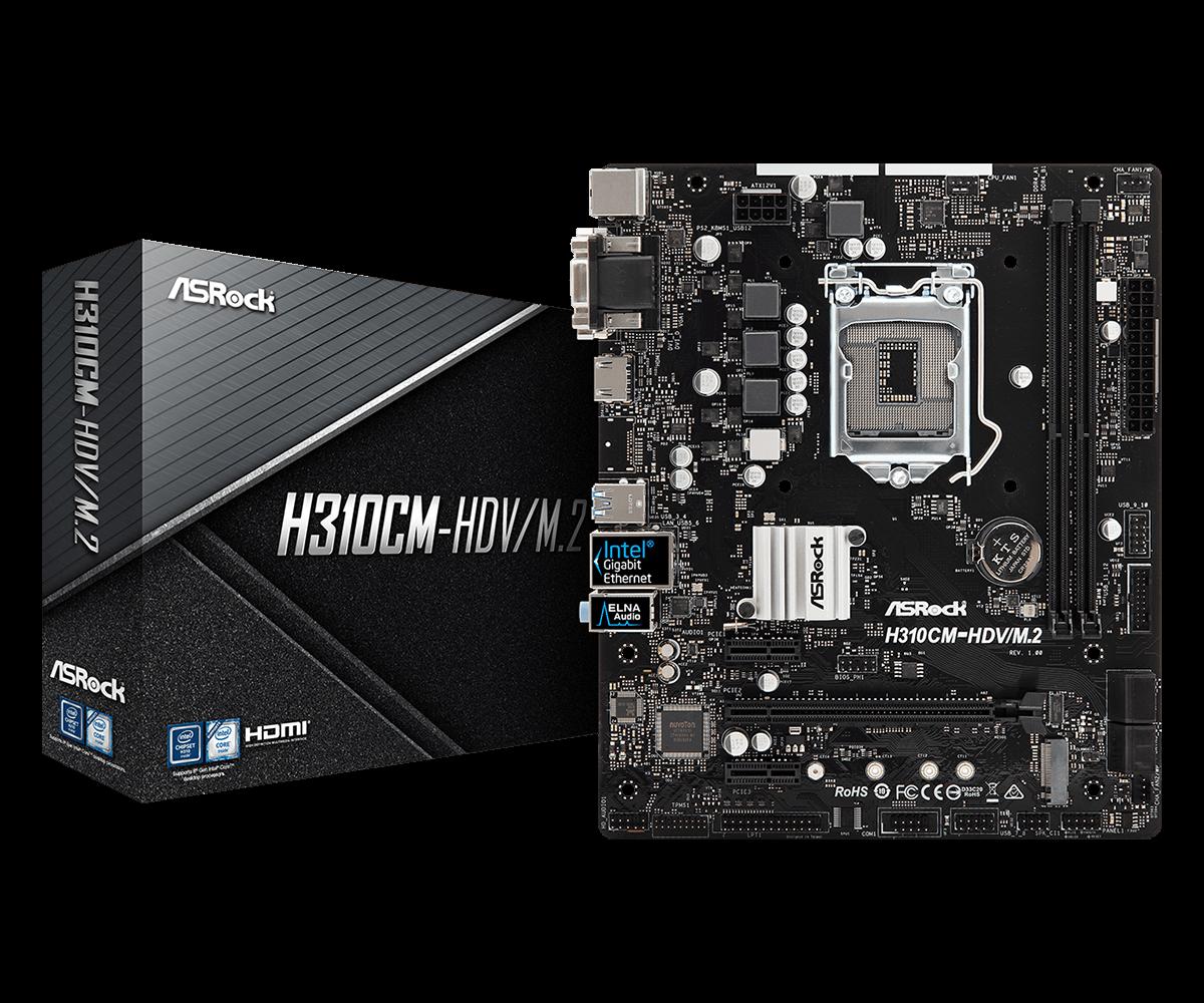 Asrock H310CM-HDV/M.2 motherboard