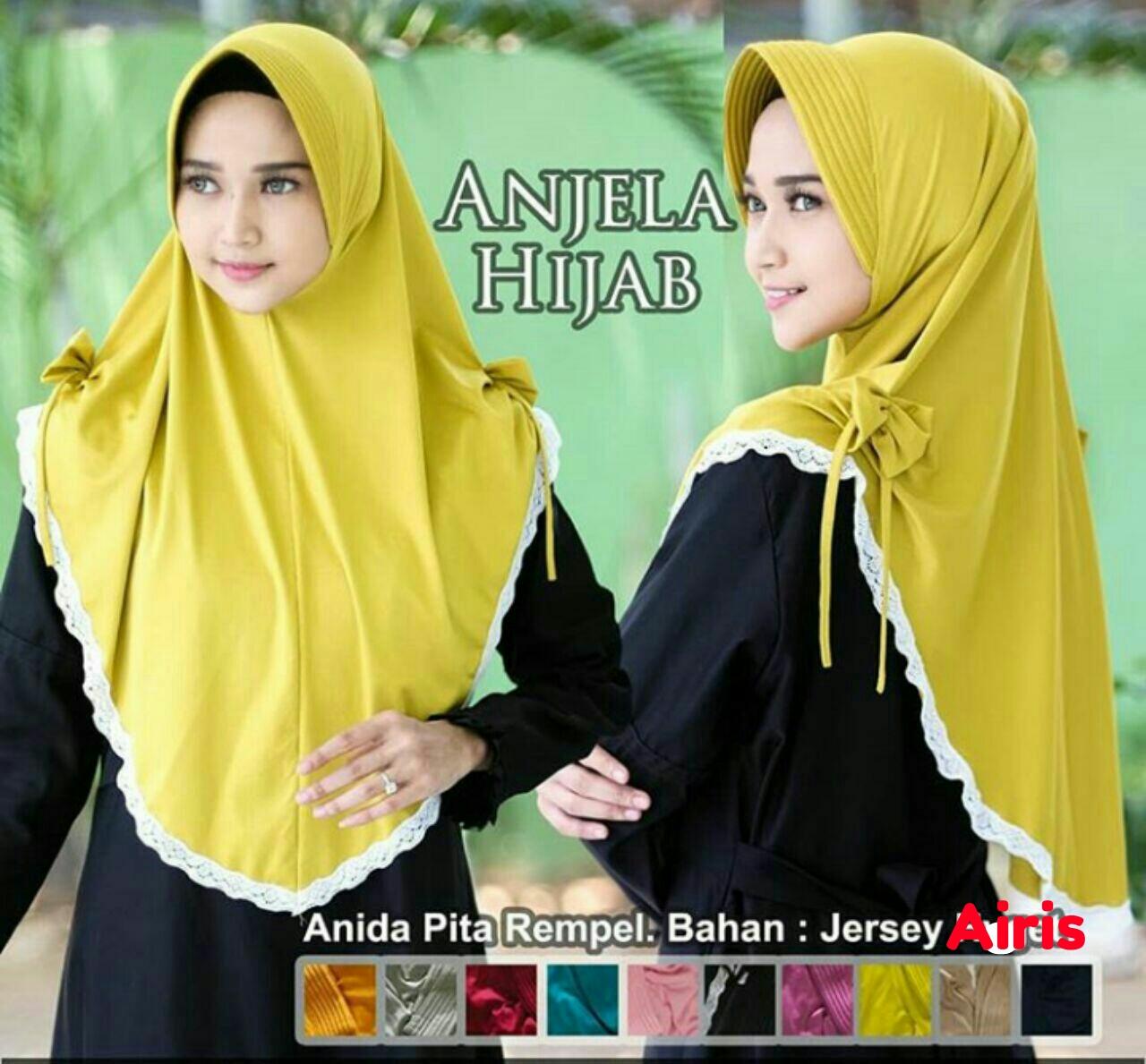 Jilbab Instan Renda Jersey Anida Hijab Renda Anjela Lazada Indonesia