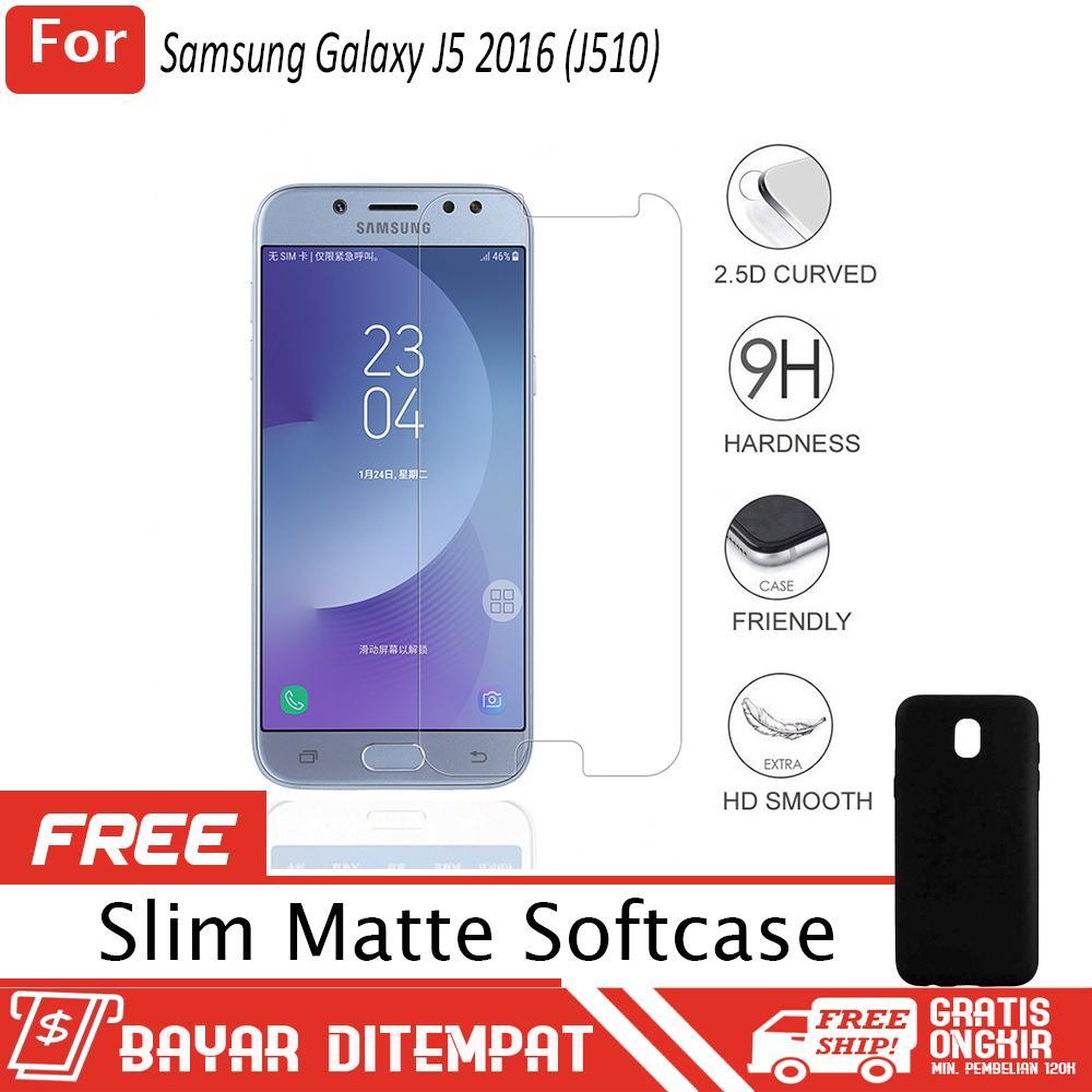 Samsung Galaxy J5 Pro (J530) Anti Gores Kaca / Tempered Glass Kaca Bening + FREE Softcase Babby Ski