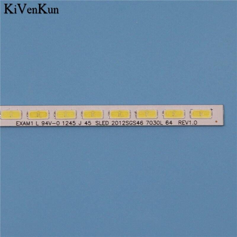 TV Lamp LED Backlight Strip For Toshiba 46TL963B 46TL966G 46UL975G Bars line Kit LED Band EXAMI SLED 2012SGS46 7030L 64 REV 1.0