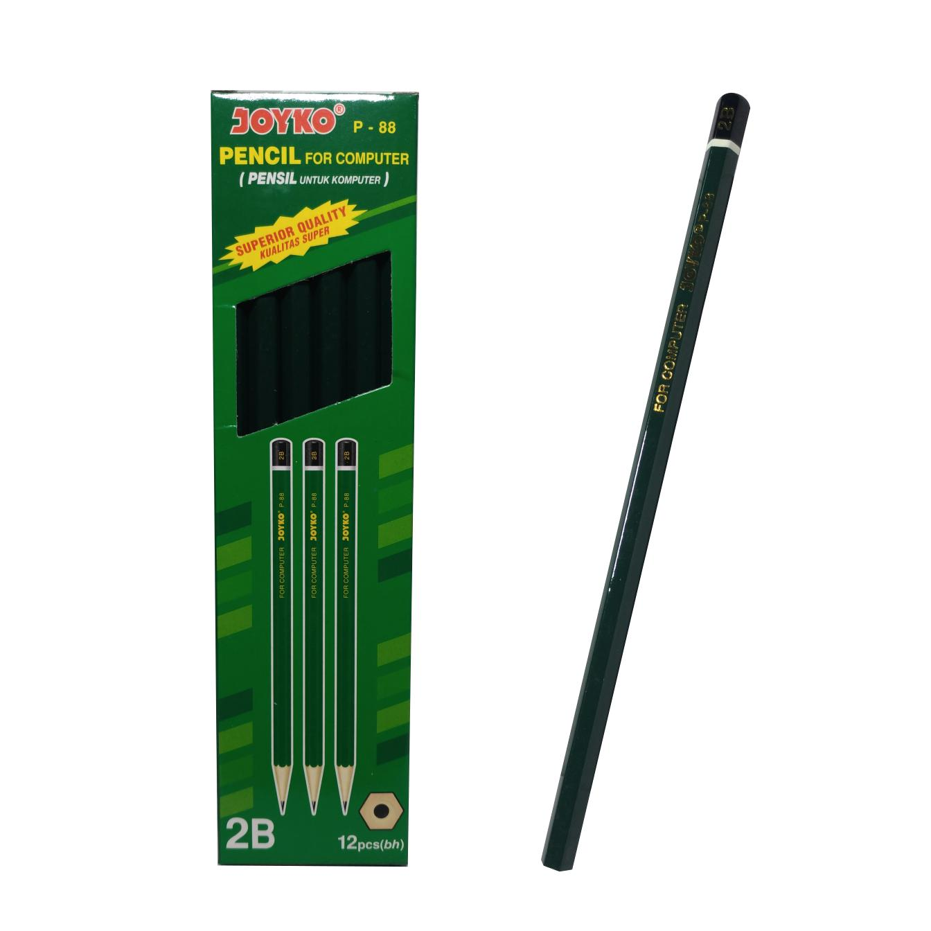 Joyko Pencil For Computer P-88 2B [1 Pak/12 Pcs]