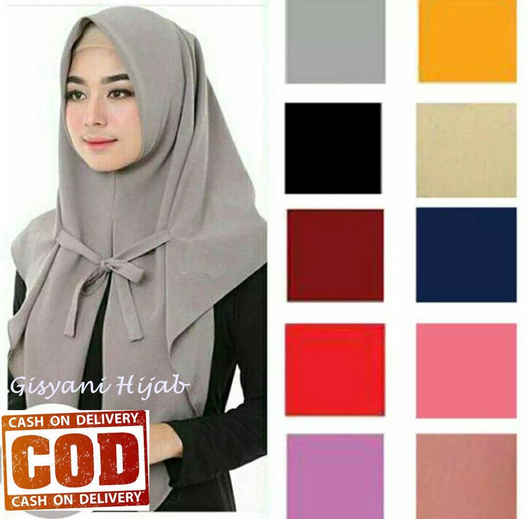 Jilbab Instan Segitiga Tali (COD) by Gisyani Hijab