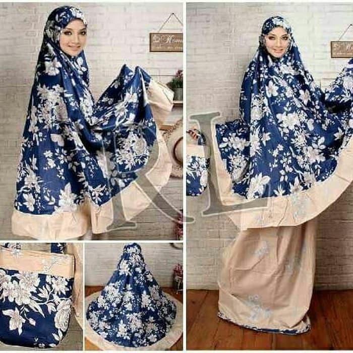 Mukena katun Jepang dongker / fashion / perlengkapan shalat / alat shalat / elegant / nyaman dipakai / model terbaru 251