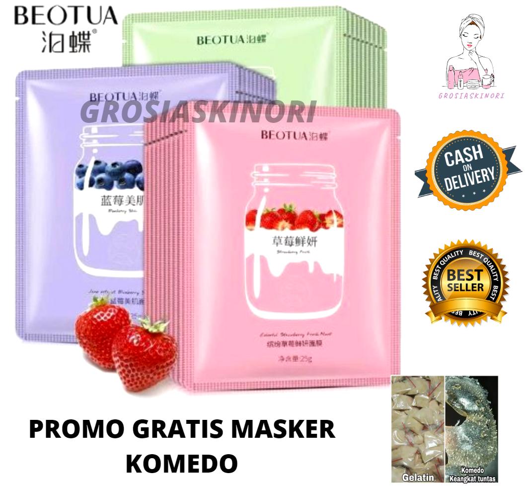 Skincare BEOTUA Yogurt GRATIS MASKER KOMEDO Sheet Mask VARIAN STRAWBERRY