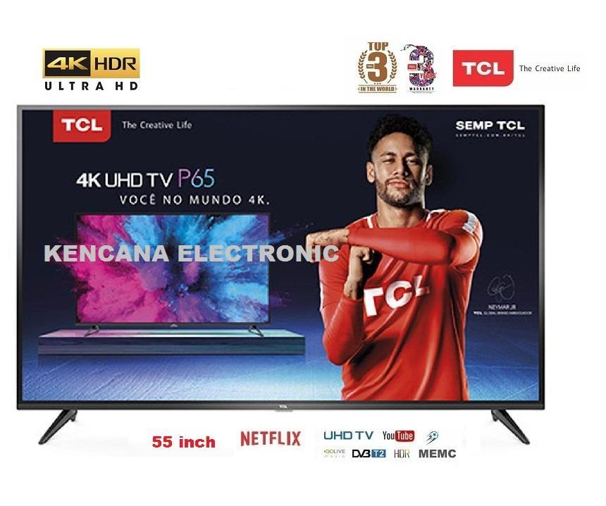 TCL L55P65US LED 55inch Smart TV HDR- 4K UHD-WIFI FREE ONGKIR Khusus JABODETABEK