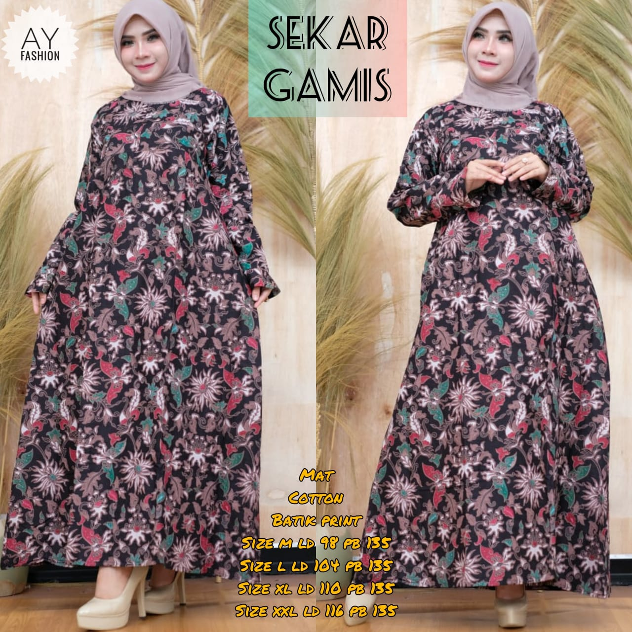 Sekar Gamis Cotton Batik PRintModel Gamis Terbaru 9 Untuk RemajaModel  Baju dress Panjang EleganDress Baju Muslim Wanita TerbaruSketsa Baju