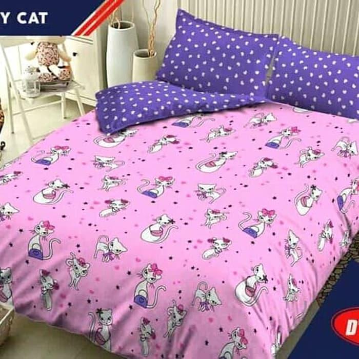 Sprei Kintakun Dluxe Kitty Cat No.1 King Ukuran 180x200 Seprai By Nemo Store.