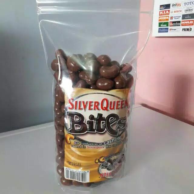 Snack Coklat Silverqueen Sq bites almond / mede 1kg