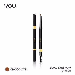 YOU Basic Collection Dual Eyebrow Styler [ Precise Brow Definer Natural Pigment Brow] - Chocolate Eyebrow styler you eyebrow styler recommended eyebrow styler bagus thumbnail