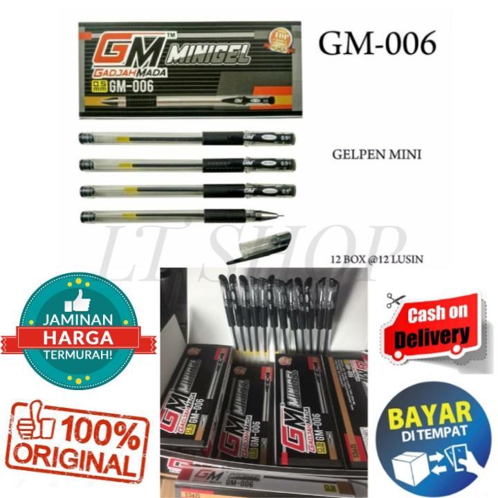 Disc / Promo 1 Pack 12 Pcs Pulpen Ballpoint Pena / Pen Gel Gm-006 Minigel Murah By Lt Shop