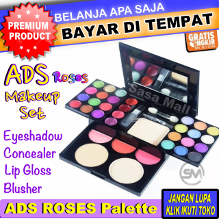 ADS ROSES Make Up Set Pallete Lengkap 1 Pack Eyeshadow Makeup Pallate Make-Up Kit Lengkap Komplit Lipstik Bedak Powder Fashion Colours 42 warna Laz Beauty COD Bayar di Tempat Sasa Mall thumbnail
