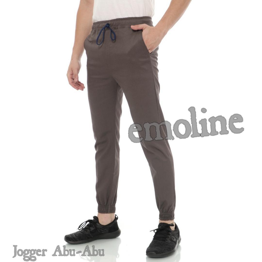 Celana Jogger Panjang Chino Pria 27-32 By Emoline__.