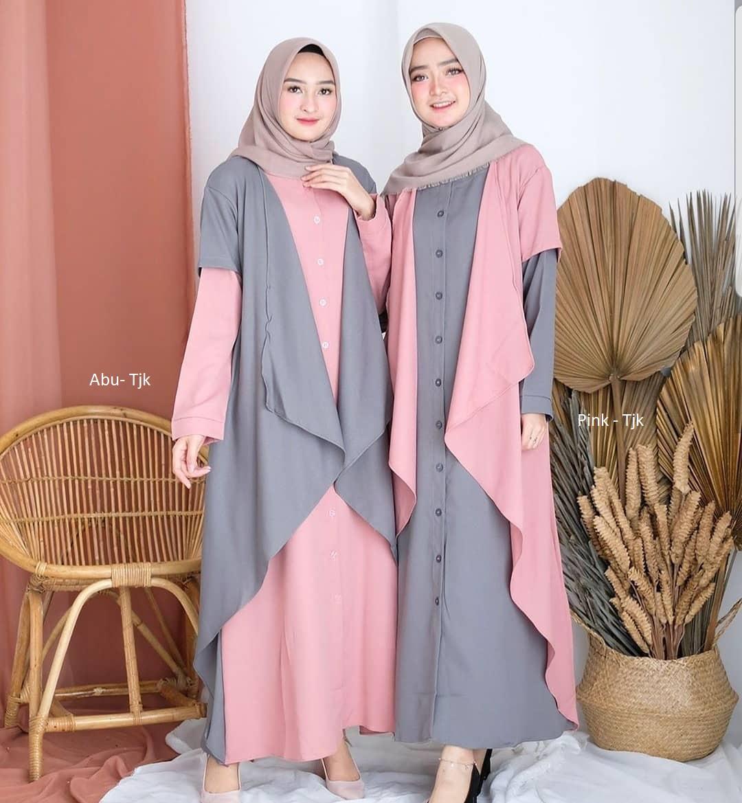 TJK - Baju Gamis Dress Wanita Terbaru Tahun 2019 Gamis Wanita Dress Wanita Dress Muslim Nessa Dress