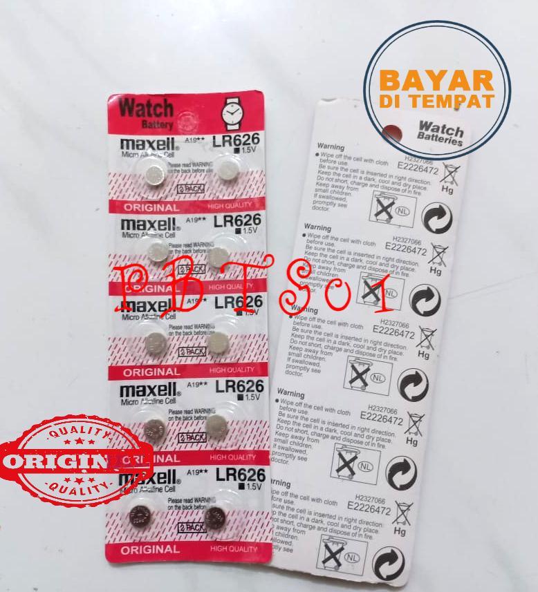 Baterai Jam Tangan/ Battery / Batere Maxell Lr626 / Batrai Baterai Batray Mulai Dari 10pcs/20pcs/40pcs/50pcs/100pcs-Pbts01 By Pbts01.