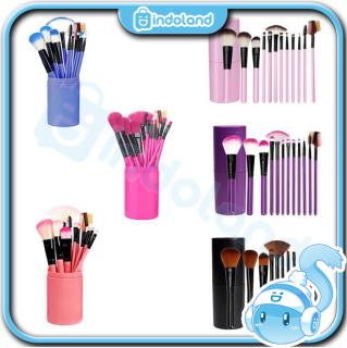 INDOLAND - READY STOCK Kuas Make Up Tabung 12pcs Make Up Brush 12 Set In Tube Import Murah R034 thumbnail
