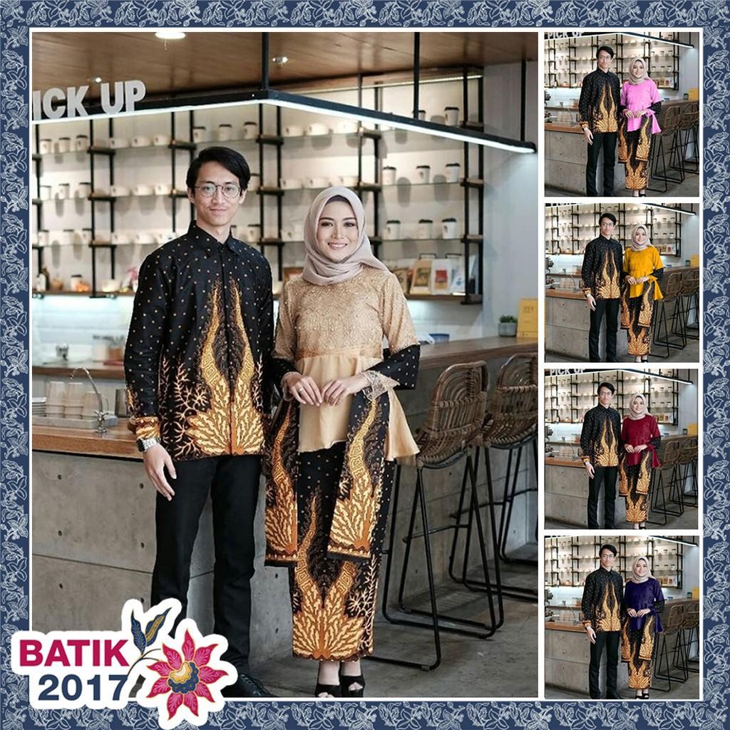 COUPLE SELENDANG MUTIARA sania ruffle adila couple brokat modern batik modern couple