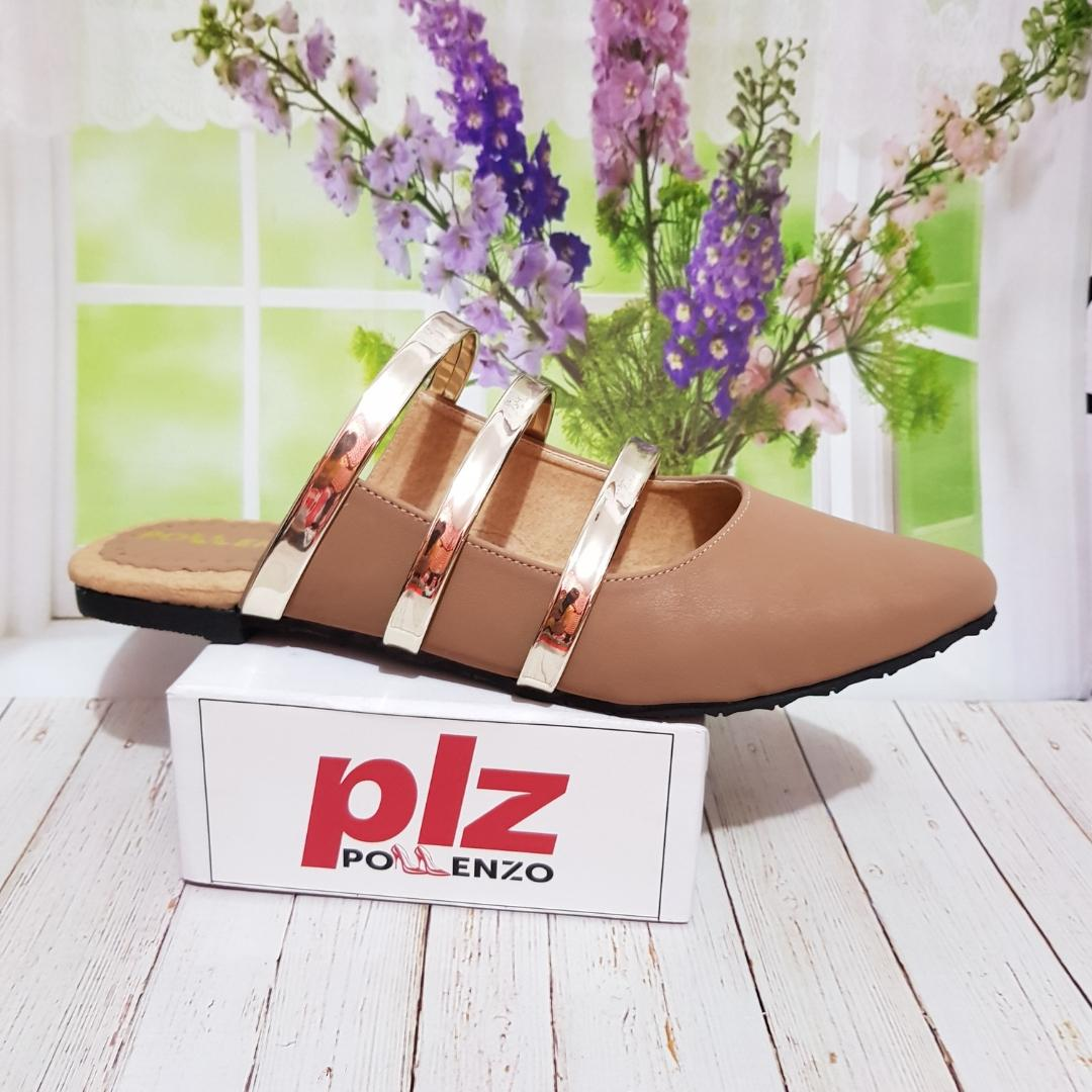 Pollenzo Shirley Loafer Wanita Sandal Flat Multi-Strap