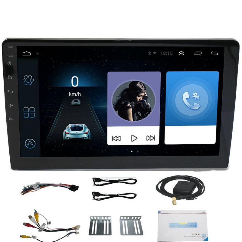10.1 Inch Android 8.1 Quad Core 2 Din Car Press Stereo Radio Gps Wifi Mp5 Player Us.