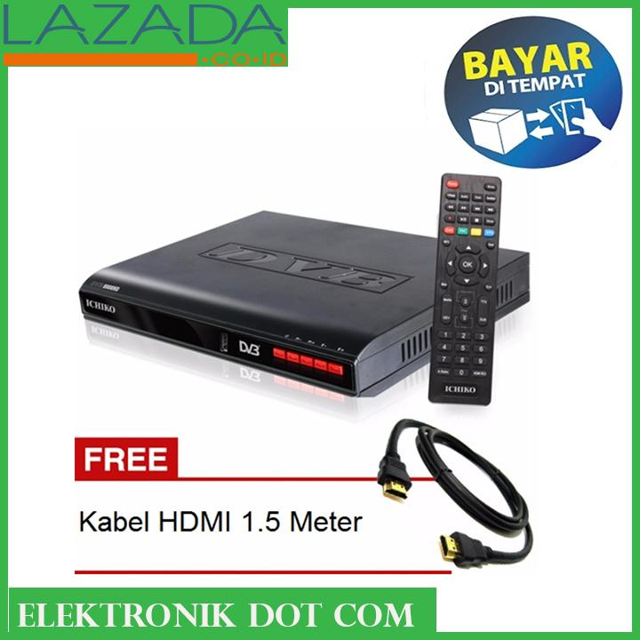 ICHIKO Set Top Box DVB-T2 TV Digital Gambar Tanpa Semut - FREE KABEL HDMI