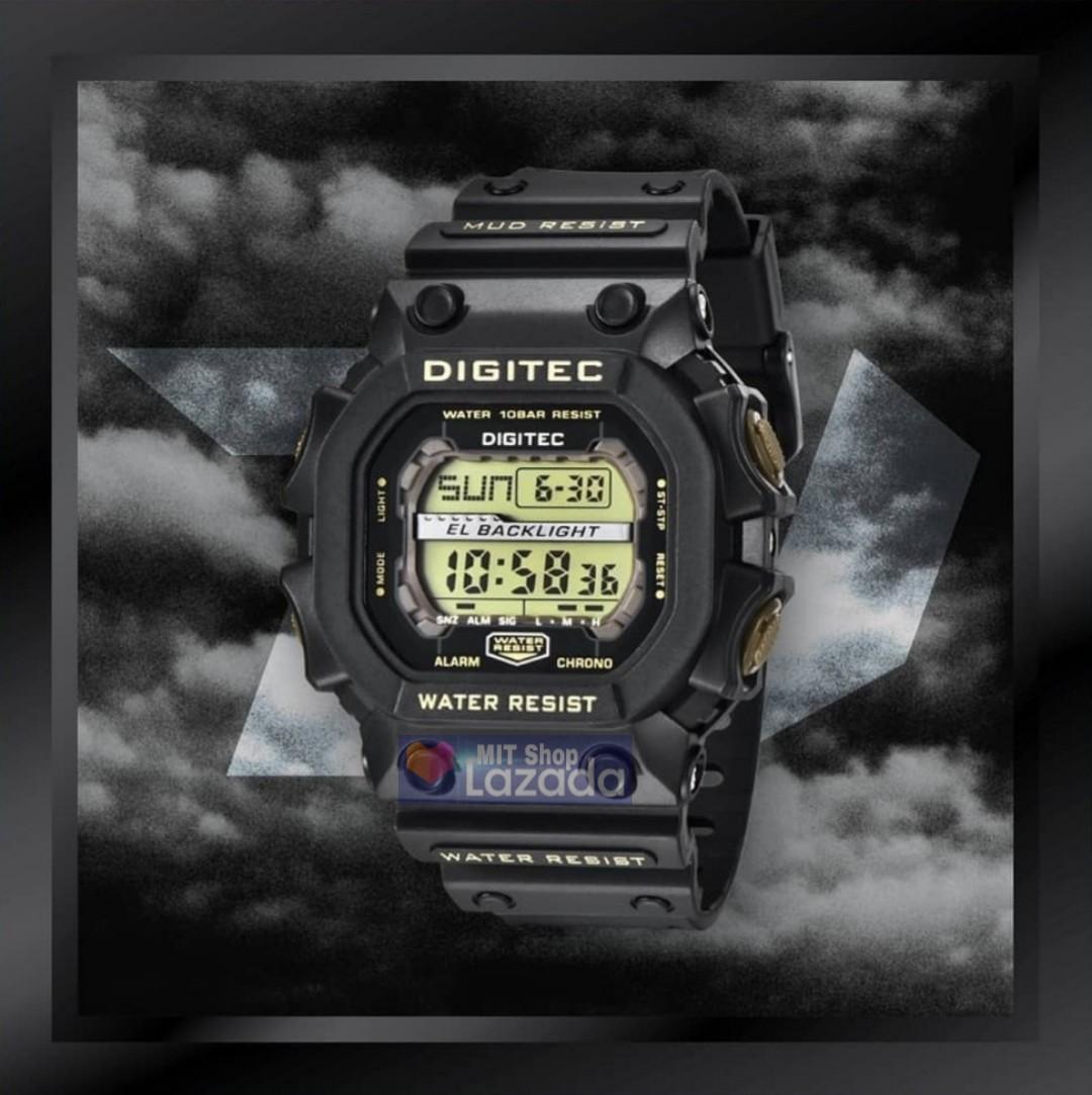 Jam Tangan Digitec Monster 2012 Jam Tangan Olahraga Tahan Air Tawar Air Asin 100M FullBlack