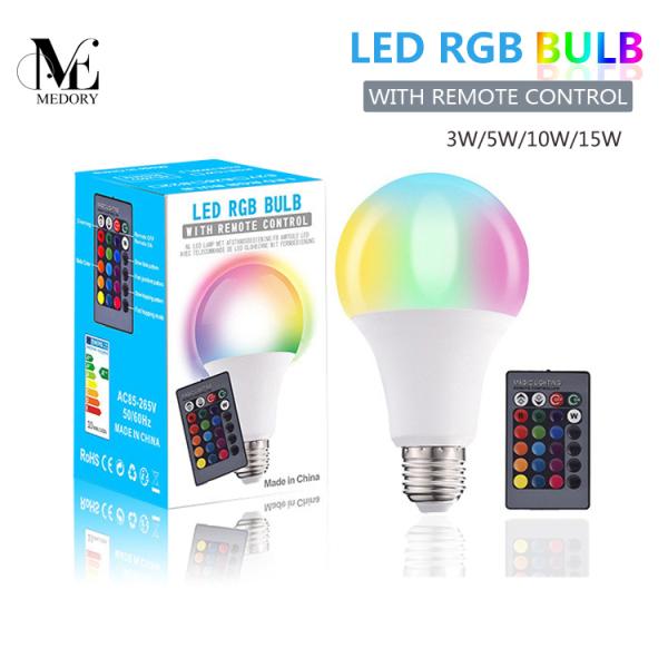 Bảng giá Bloog 1 Chiếc Đèn LED Bóng Đèn LED RGB E27 RGBW Thay Đổi Độ Sáng Ống LED Thông Minh Đèn Đèn Nền Trục Vít Đa Năng RGBW Nhiều Màu Với Điều Khiển Từ Xa IR Để Trang Trí Nhà Ngày Lễ, Với Bóng Đèn LED Điều Khiển Từ Xa