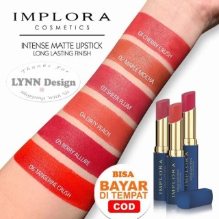 IMPLORA Intense Matte Lipstick Long Lasting Finish Original BPOM thumbnail