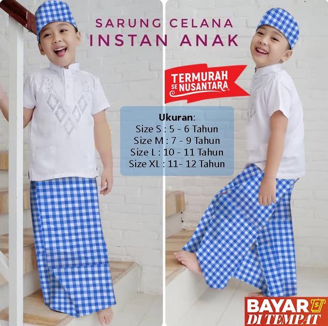 Sarung Celana Anak Usia 5 - 12 Tahun Uje GRATIS Peci Bukan Merk Wadimor
