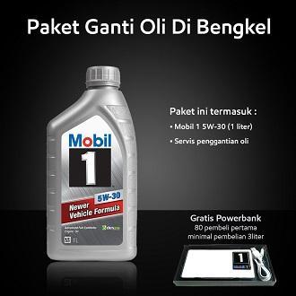 Mobil 1™ 5W-30 (1 liter) Paket Ganti Oli Di Bengkel