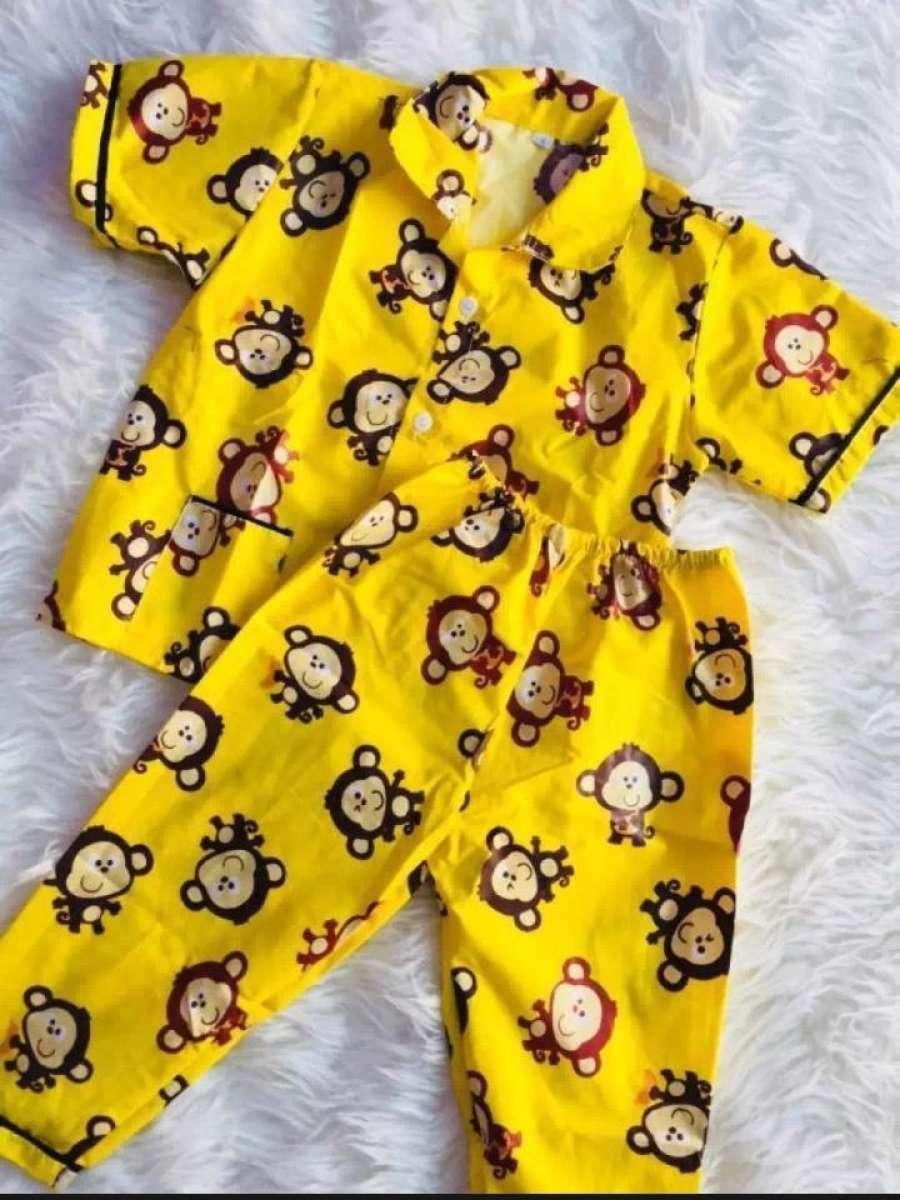 Baju Tidur Anak Caracter Monyet Kuning Lucu 1 5 Tahun Untuk Pria Dan Wanita Lazada Indonesia