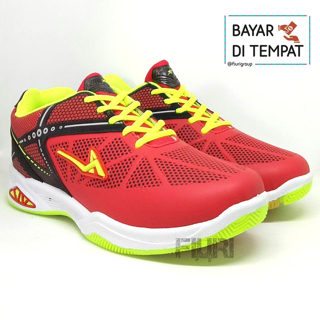 FIURI - Pro ATT Original - BPD 630 Merah - Sepatu Olahraga Pria - Sepatu  Badminton 6ea2f8b8da