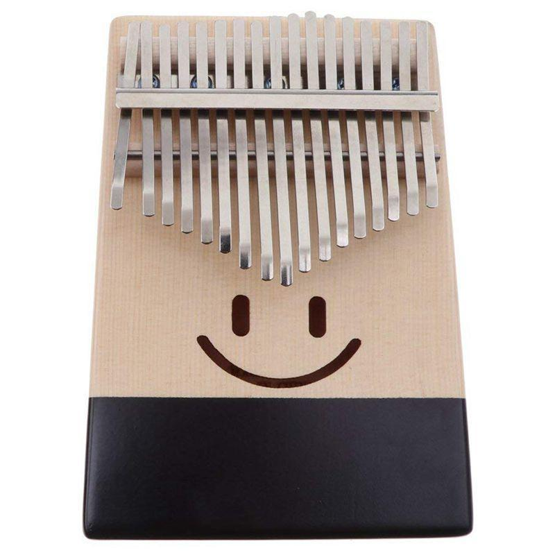 Kalimba 17 Keys Thumb Piano Finger Percussion for Children Kids Musical Toy Gift - Smile Pattern