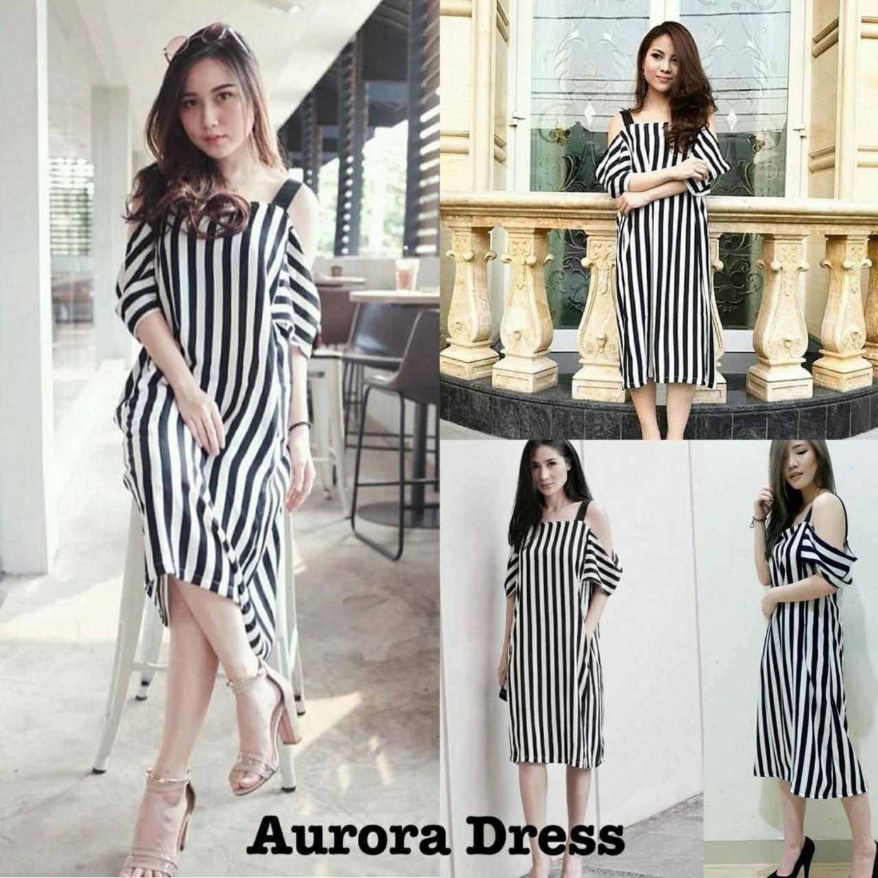 Daily Wear Dress Wanita Aurora / Kemeja Wanita / Kaos Wanita / Tunik Wanita / Dress