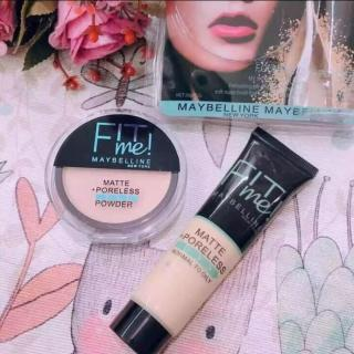 UCIS- NEW FIT ME PORELESS MATTE MAYBELLINE SET 2IN1 FOUNDATION & POWDER thumbnail