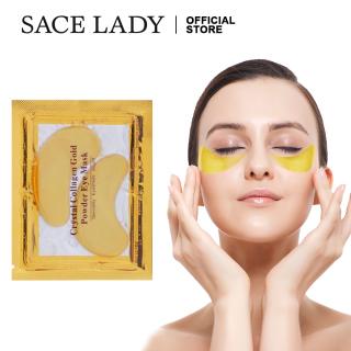 SACE LADY Eye Mask Gold Crystal Collagen Eyemask Moisturizing for Dark Circles Puffiness Wrinkles Skin Care 6-100 Pairs thumbnail