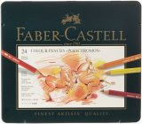 Toko Faber Castell 24 Piece Polychromous Berwarna Pensil Set Timah Logam Lengkap Indonesia