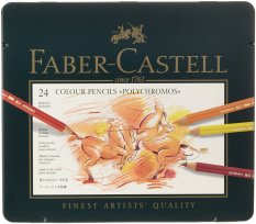Beli Faber Castell 24 Piece Polychromous Berwarna Pensil Set Timah Logam Seken