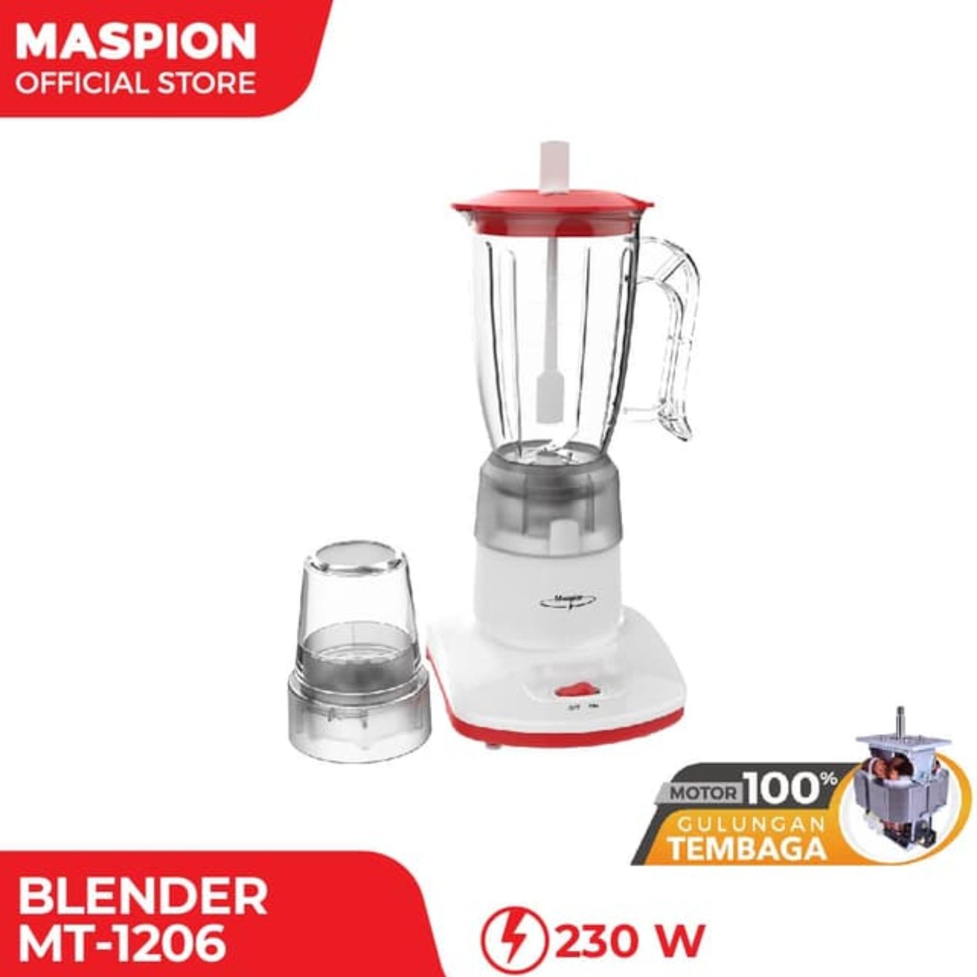 Maspion Blender Plastik 2 in 1 - MT1206 - GRATIS ONGKIR Jabodetabek