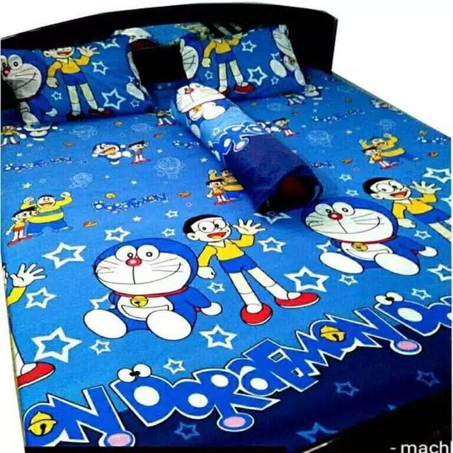 Seprei Karakter 160 x 200 Seprei Doraemon Hello kitty Keroppi Mickey