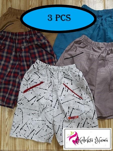 3 Pcs Celana Pendek Anak Katun / Daily Pants Anak Laki laki dan Perempuan - KoleksiHawa