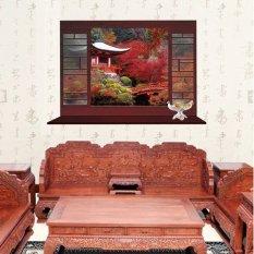 Palsu Jendela Musim Semi Adegan Hill Dekorasi Dinding Pvc Stiker Rumah Kertas Vinil Ruang Keluarga R Tidur Dapur Gambar Seni Diy