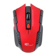 Promo Fantech Mouse Gaming Wireless W4 6D Ftm W529 Merah Murah
