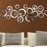 Harga Fashion 24 Pcs Circular Wall Sticker Decal Poster Diy Room Art Dekorasi Rumah Dekorasi Baru