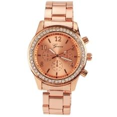 Review Pada Fashion Gadis Wanita Perempuan Unisex Stainless Steel Analog Quartz Wrist Watch Emas
