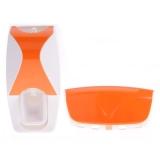 Review Fashion Praktis Dispenser Pasta Gigi Otomatis Sikat Gigi Orange