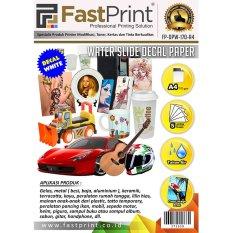 Jual Fast Print Kertas Water Slide Decal Paper White Ukuran A4 170 Gram Fast Print Ori