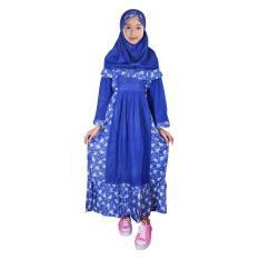 Harga Fayrany Busana Muslim Anak Gamis Motif Fgm 001D Biru Online Jawa Barat