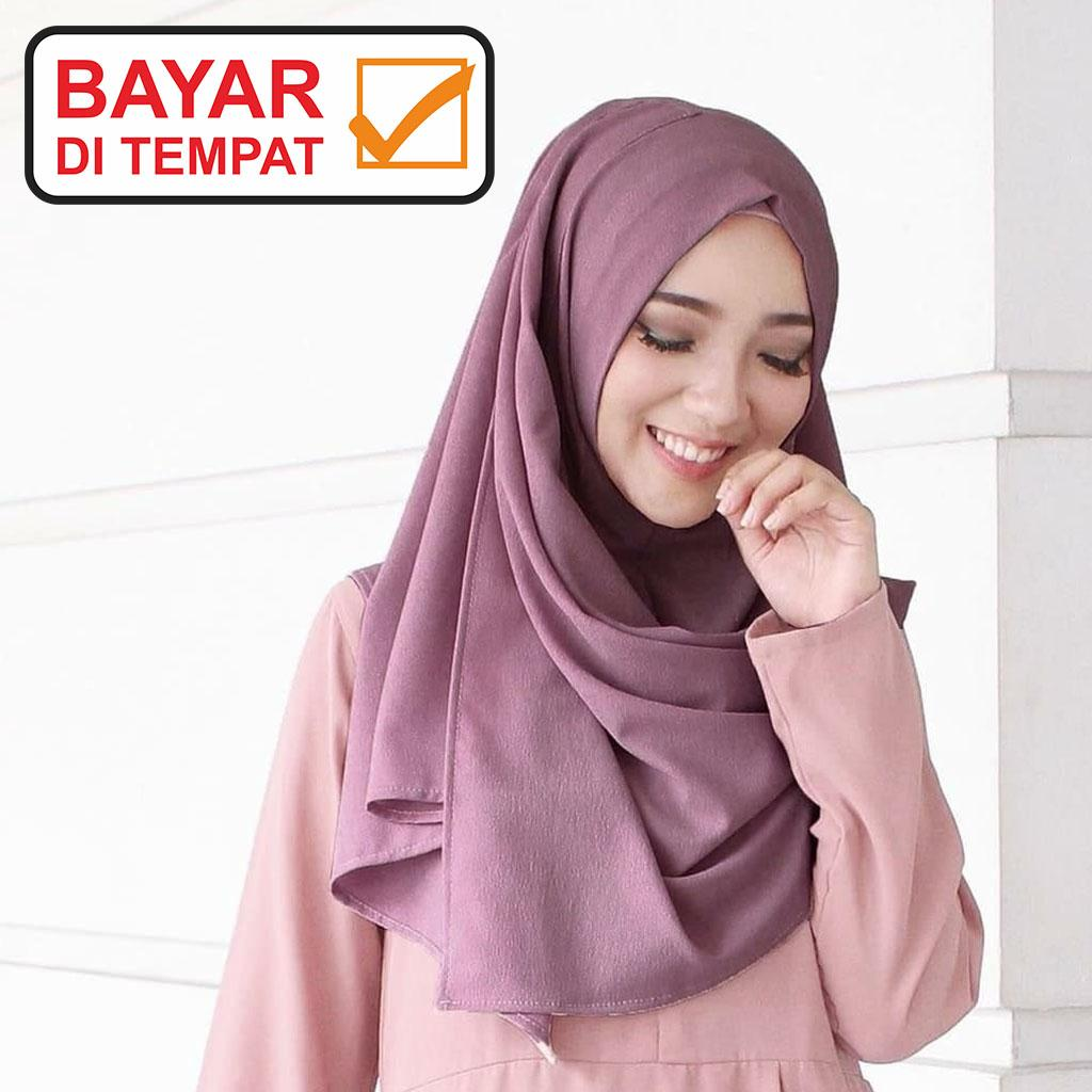 Jilbab / Hijab Pashmina Instan Zafina - Kerudung Pasmina Instant By Hijaber Store.