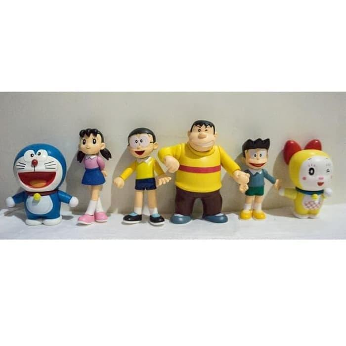 HOT PROMO!! Mainan Action figure Doraemon nobita shizuka suneo giant dorami series Action figure an