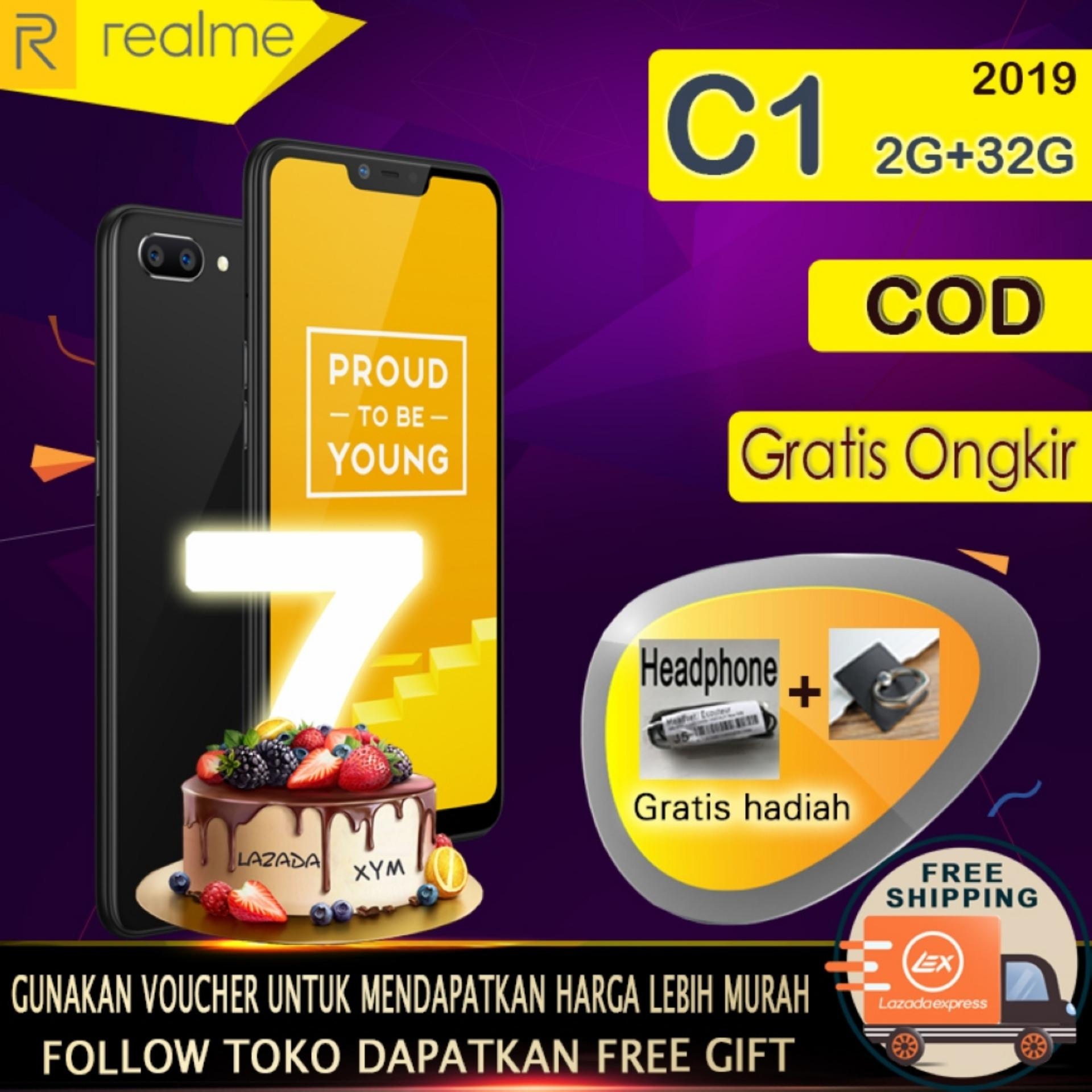 Realme C1 hp 2G+32G - COD, Gratis Ongkir, Baterai Besar 4230mAh, AI Facial Unlock, Garansi resmi [ Please use the voucher ]